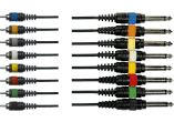 Yellow Cable Octopaire 8 rca 8 jack mono 5 m