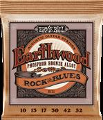 ERNIE BALL CORDES ACOUSTIQUES Earthwood phosphore bronze rock n blues 10-52 2151