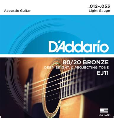 D'Addario EJ11, 80/20, Light, 12-53
