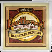 ERNIE BALL CORDES ACOUSTIQUES Earthwood 80/20 bronze regular - silk&steel 13-56 2043