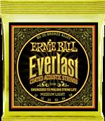ERNIE BALL CORDES ACOUSTIQUES Everlast coated 80/20 bronze medium light 12-54 2556