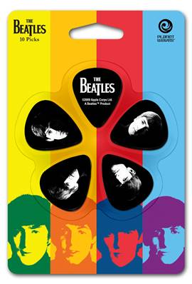 D'Addario Médiators Beatles par D'Addario, Meet The Beatles, pack de 10, Heavy