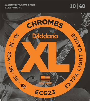 D'Addario Chromes ECG23, Extra Light, 10-48