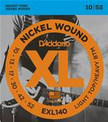 D'Addario EXL140, Light Top/Heavy Bottom, 10-52, 1 Jeux
