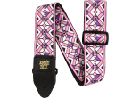 Ernie Ball Courroie Sangle jacquard kaleidoscope pink