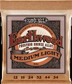 ERNIE BALL CORDES ACOUSTIQUES Earthwood phosphore bronze medium light 12-54 2146