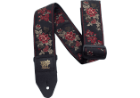 Ernie Ball Courroie Sangle jacquard red rose
