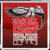 ERNIE BALL Nickel wound custom gauge light /12 cordes 9-46 2233