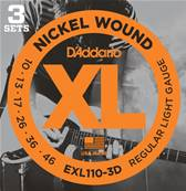 D'Addario EXL110-3D, Regular Light, 10-46, 3 Jeux