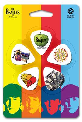 D'Addario Médiators Beatles par D'Addario, Albums, pack de 10, Medium