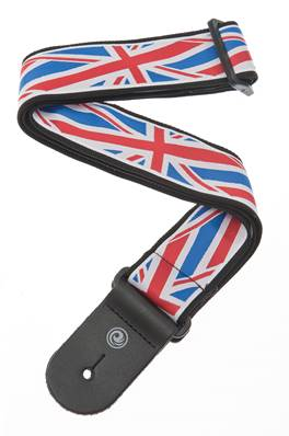 D'Addario Sangle de guitare tissée Union Jack