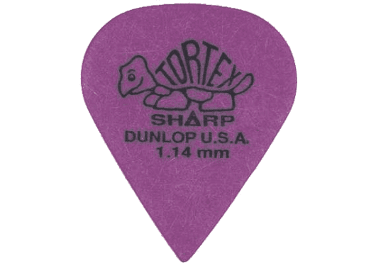 Dunlop Tortex Sharp 1,14mm sachet de 12 - 412P114