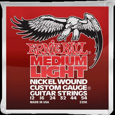 Ernie Ball Cordes Electriques Nickel wound custom gauge medium light 12-54