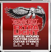 Ernie Ball Nickel wound custom gauge extra light 10-50
