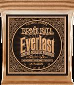 ERNIE BALL CORDES ACOUSTIQUES Everlast coated phophore bronze extra light 10-50 2550