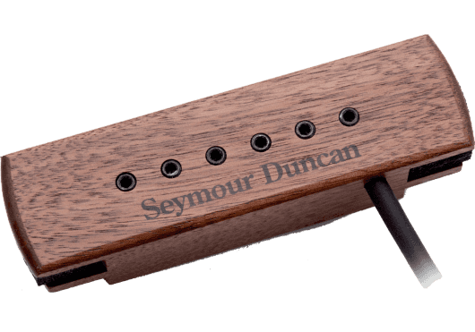 Seymour Duncan Micro Guitare Acoustique Woody HumCanceling, plots, noyer SA-3XL-WLN