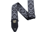 Ernie Ball Courroie Sangle jacquard tribal silver