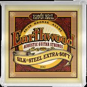 ERNIE BALL CORDES ACOUSTIQUES Earthwood 80/20 bronze extra soft - silk&steel 10-50 2047