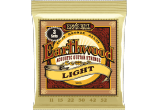 ERNIE BALL Earthwood 80/20 bronze light 11-52 - pack de 3 3004
