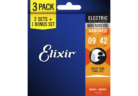 Elixir Nanoweb Super Light pack de 3