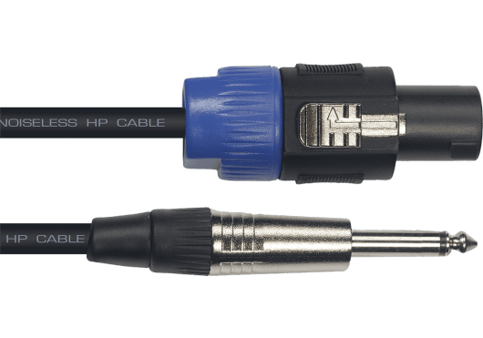Yellow Cable Cordon hp speakon jack mono 9 m