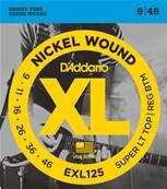 D'Addario EXL125, Super Light Top/Regular Bottom, 9-46, 1 Jeux