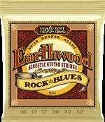 ERNIE BALL CORDES ACOUSTIQUES Earthwood 80/20 bronze rock n blues 10-52 2008