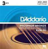 D'Addario EJ16-3D Light 3-Jeux