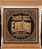 ERNIE BALL CORDES ACOUSTIQUES Everlast coated phophore bronze medium light 12-54 2546