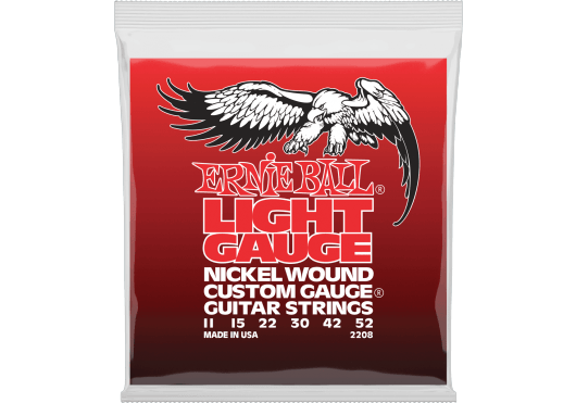 Ernie Ball Cordes Electriques Nickel wound custom gauge light 11-52