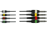 Yellow Cable Multipaire 4 jack mono 4 rca 3 m