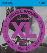 D'Addario EXL120, Super Light, 9-42, 1 Jeux