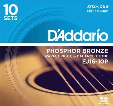 D'Addario EJ16-10P Light 10-Jeux