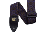 Ernie Ball Courroie Sangle jacquard purple paisley