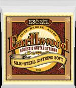 ERNIE BALL CORDES ACOUSTIQUES Earthwood 80/20 bronze soft /12 cordes 9-46 2051
