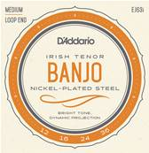 D'Addario EJ63I Cordes pour Banjo Light Tenor Irish 12-36