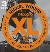 D'Addario EXL140-3D, Light Top/Heavy Bottom, 10-52, 3 Jeux