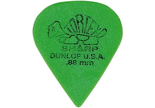 Dunlop Tortex Sharp 0,88mm sachet de 12 - 412P88