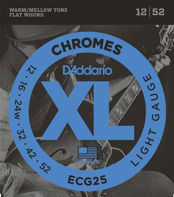 D'Addario Chromes ECG25, Light, 12-52