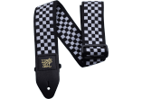 Ernie Ball Courroie Sangle black and white checkered