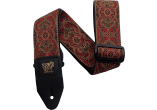 ERNIE BALL Sangle jacquard crimson paisley
