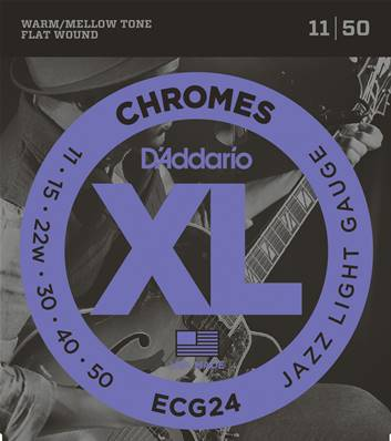 D'Addario Chromes ECG24, Jazz Light, 11-50