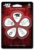 D'Addario Médiators Joe Satriani par D'Addario, blancs, pack de 10, Heavy