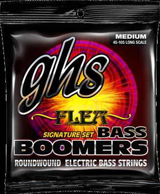GHS LONG SCALE M FLEA @45-105 CORDES BASSES BOOMERS FILE ROND 3045M
